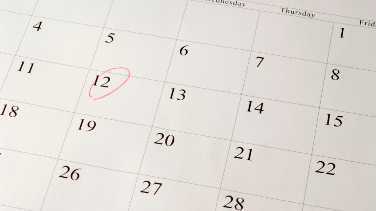 date-circled-on-calendar